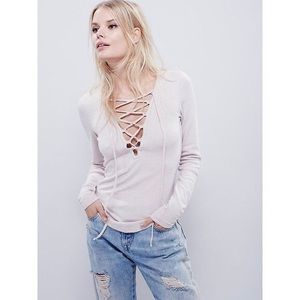 Free people lucky lace up top - XS